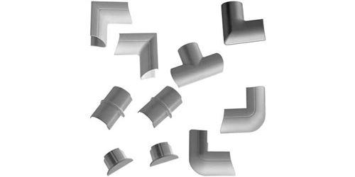 D-Line Pack de connecteurs multiples pour Trunk 30/15 Silver