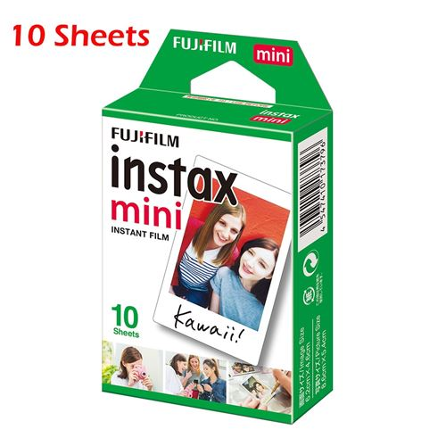 10 Feuilles Fujifilm Instax Mini Blanc Film Photo Papier Instantané Album à développement et Tirage