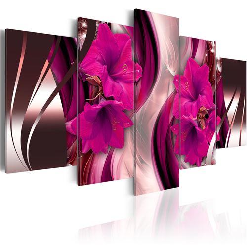 Tableau - Soirée de fuchsia - Artgeist - 200x100