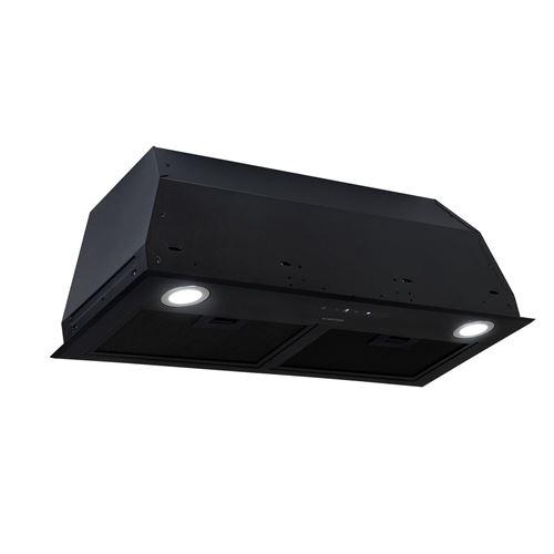 Klarstein Paolo Hotte aspirante encastrable 72,5 cm 600 m³/h - Eclairage LED - Classe A - noire