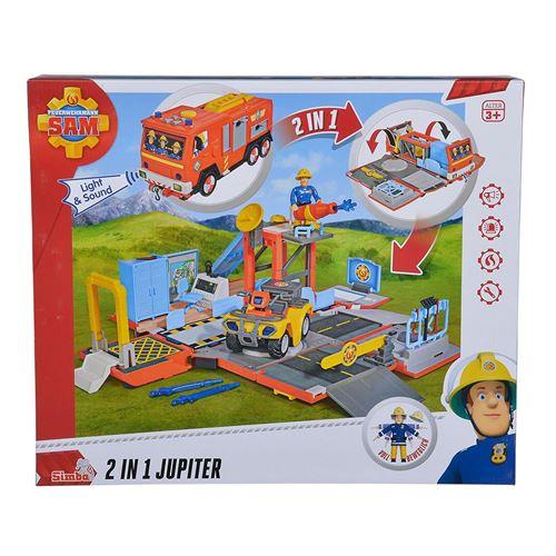 Simba Toys 109251029 Pompier Sam 2 en 1 Jupiter avec son