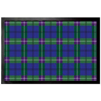 Dessins Paillasson Essuie Pieds Dessin Carreaux Tartan écossais Bleu 40x60 Cm