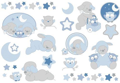 Stickers décoratifs Nattou Collection ' Sam et Toby '