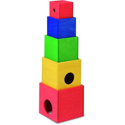 Walter empilage de cubes de tour en bois 5 pièces