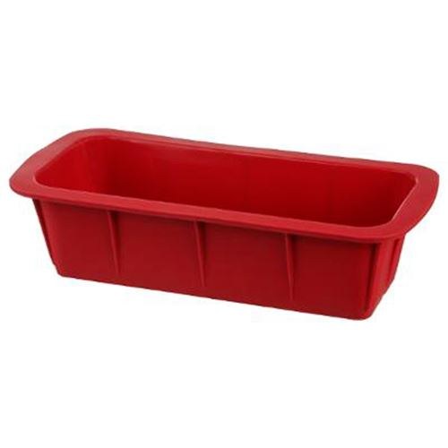 Moule à Cake Silicone Silipro 27cm Rouge