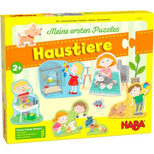 Haba puzzle animaux domestiques en carton à partir de 2 ans