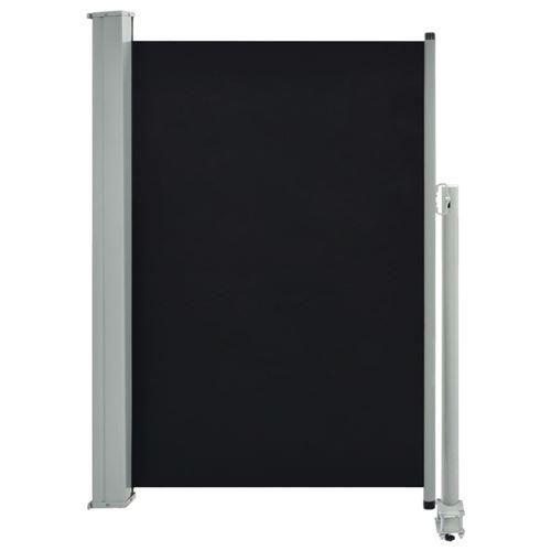 vidaXL Auvent latéral rétractable de patio 120 x 300 cm Noir
