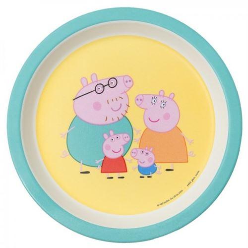 Assiette bébé Peppa Pig avec les parents Petit Jour Paris Multicolore