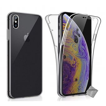 coque iphone xs max avec verre trempe