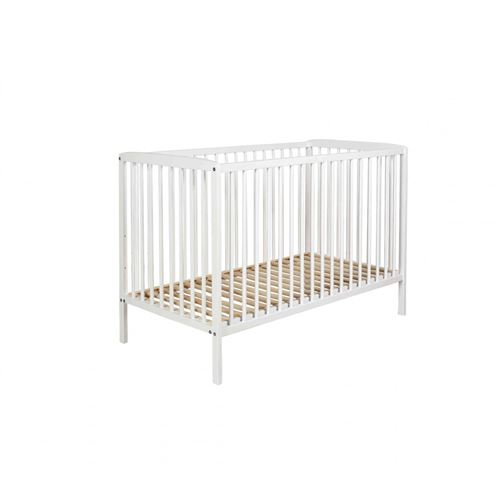 Lit bébé à barreaux 60x120 en bois blanc LT0001