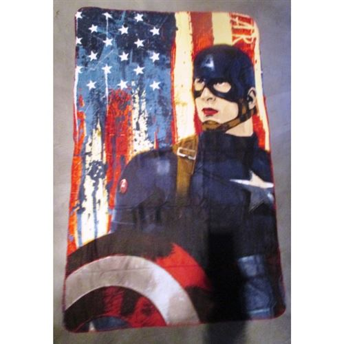 plaid super hero captain america 150x100cm chambre enfant