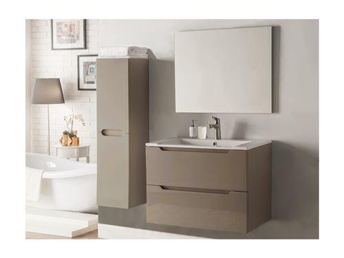 Ensemble STEFANIE - meubles de salle de bain - Laqué taupe