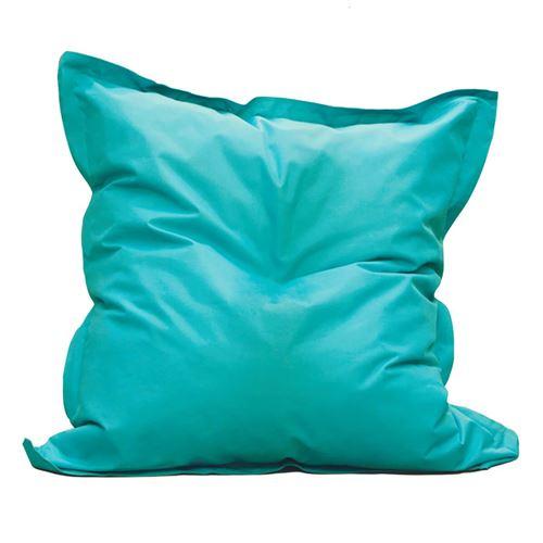 Square - Pouf d'Extérieur Tissu Coloris Bleu