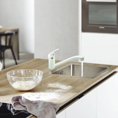 Robinet Mitigeur Blanc Pour évier De Cuisine En Laiton Cartouche Céramique    Robinetterie   Achat U0026 Prix | Fnac