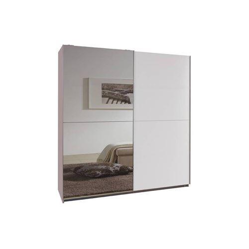 Dressing portes coulissantes CLAPTON 135 cm blanc / miroir