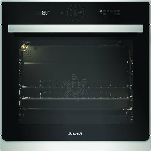 Brandt BXP6555X - Four - intégrable - niche - largeur : 56 cm - profondeur : 55 cm - hauteur : 58.5 cm - avec système auto-nettoyant - acier inoxydable