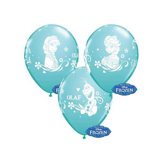 6 ballons latex frozen qualatex