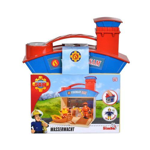 Simba Toys 109251033 Set de sauvetage de la caserne de pompiers de pompier Sam avec 2 figurines