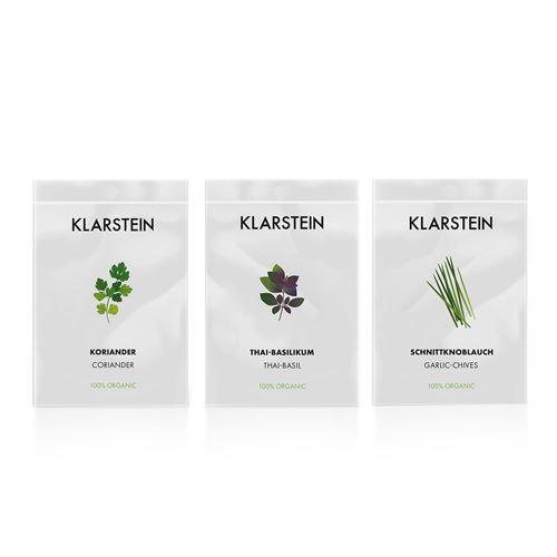 Klarstein GrowIt Seeds Asia - 3 lots de graines pour jardin hydroponique : coriandre / basilic thai / ciboule chinoise
