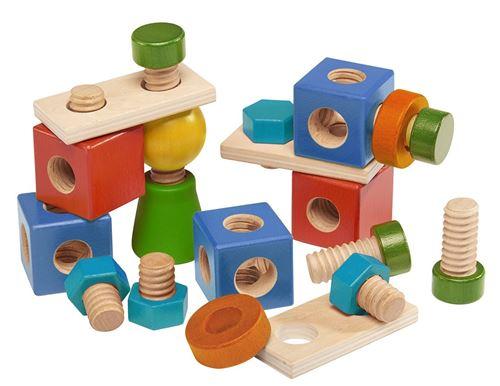 Walter blocs de construction vis à bois 24-pièces