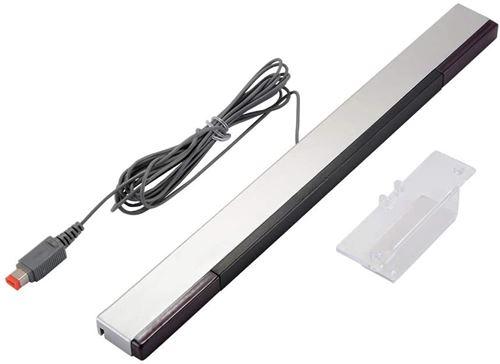 Alpexe® Jeu de Barre d'inducteur Infrarouge, Accessoires pour Nintendo Wii (Noir et Argent)