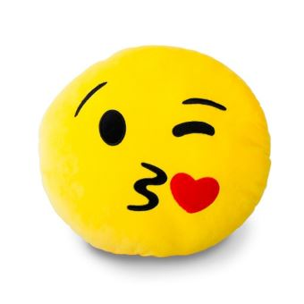 Coussin Emoticone Smiley Bisous Jaune Achat Prix Fnac
