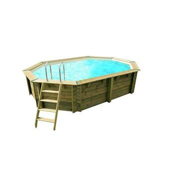 Piscine Bois Sunwater 3 00 X 4 90 X 1 20 M Liner Beige Ubbink