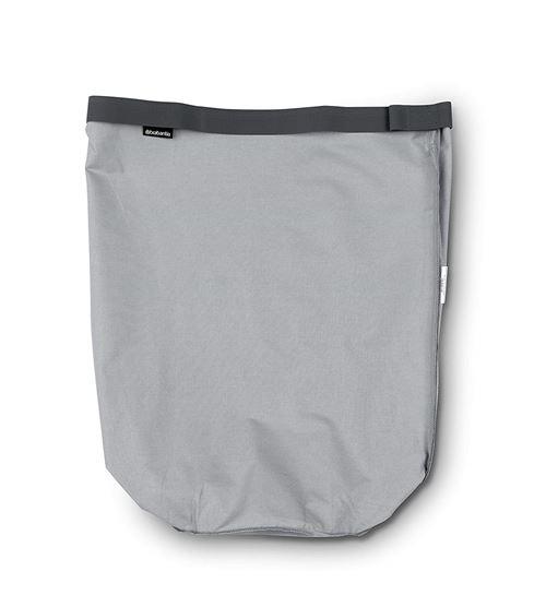 Brabantia Sac intérieur de rechange pour panier à linge, gris, 35 l, Coton, gris, 35 Litre