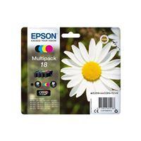Epson 18 Multipack - pack de 4 - noir, jaune, cyan, magenta - originale - cartouche d'encre