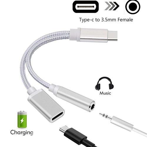 Câble de prise d'écouteurs USB type C à 3,5 mm pour Xiaomi