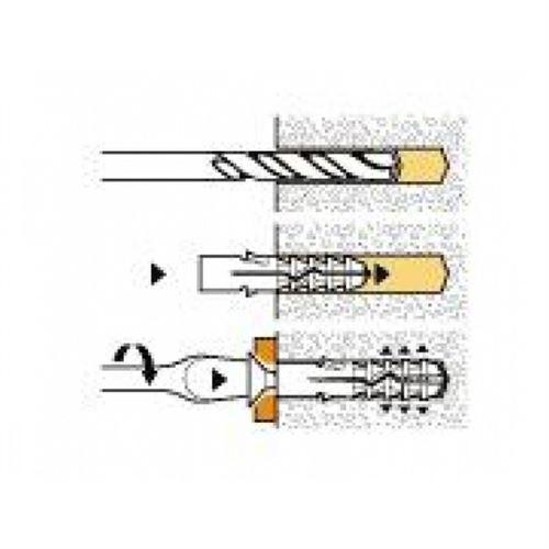 Boîte de 100 chevilles NYL avec collerette SPIT - Ø 5 mm - L.25 mm - 057070