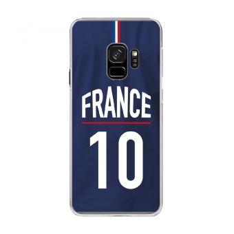 Coque rigide transparente pour Samsung Galaxy S9 avec impression Motifs Maillot de Football France