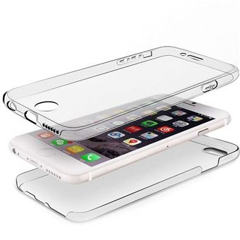 INECK® Coque DOUBLE GEL Silicone Protection INTEGRAL pour le Smartphone IPHONE 5/5S/SE - Transparent INVISIBLE