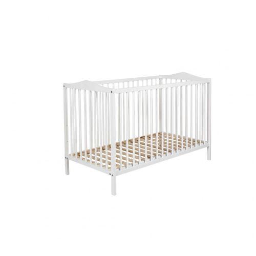 Lit bébé à barreaux 60x120 en bois blanc LT0003