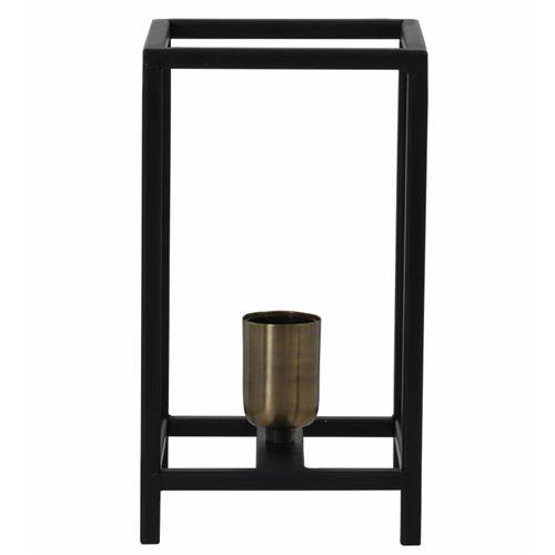 L'héritier Lanterne De Noir D'appoint Lampe Chevet Tendance Poser Du 14x14x25cm Temps Luminaire Bureau À Table Marlay Métal 7gYf6ybv