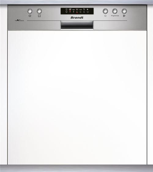 Brandt VH1704X - Lave-vaisselle - intégrable - largeur : 60 cm - profondeur : 59.8 cm - hauteur : 81.5 cm - acier inoxydable