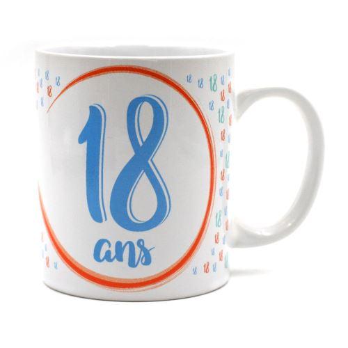 Mug - à message unique 18 ans