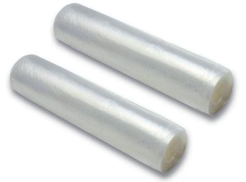 Lot de 2 Rouleaux pour machine mise sous vide (30 cm x 6 mètres)