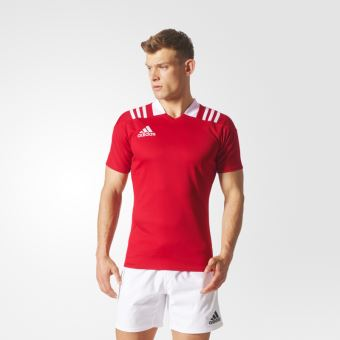 Maillot De Rugby 3 Stripes Rouge Adidas Taille : Xs