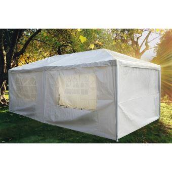 Tente De Jardin Pergola 3X9M Toile Blanche Barnum Tonnelle Chapiteau ...