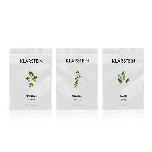 Klarstein GrowIt Seeds Europe - 3 lots de graines pour jardin hydroponique : thym / sauge / persil