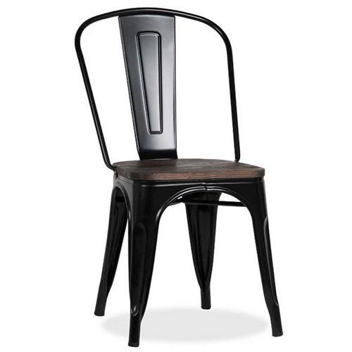 Chaise Victoria coloris orme antique et noir