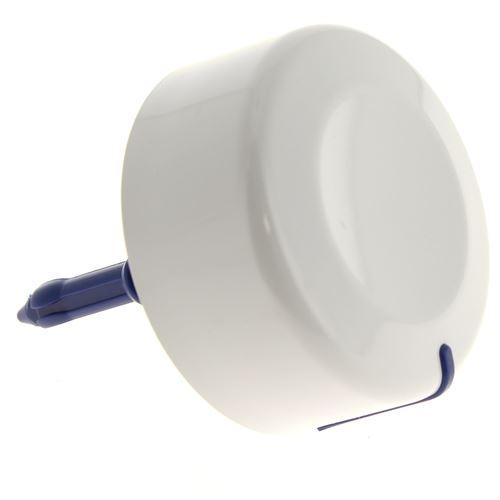 Bouton programmateur blanc pour Lave-linge Whirlpool