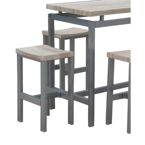 chaussures de sport 920c8 95fb0 Ensemble design table haute, bar + 4 tabourets LE MANS. Set ...