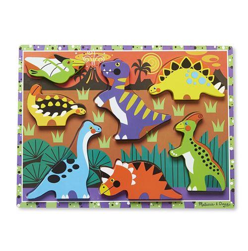 Melissa & Doug Dinosaures Chunky puzzle 7 pièces
