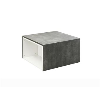 Table Basse Modulable Effet Béton/blanc DOMINO   Achat U0026 Prix | Fnac