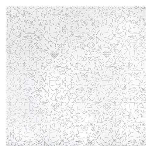 East Coast tapis d'éclaboussure origami blanc/gris 120 cm