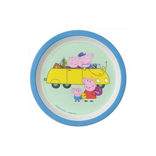 Assiette bébé Peppa Pig avec les grands parents Petit Jour Paris Multicolore