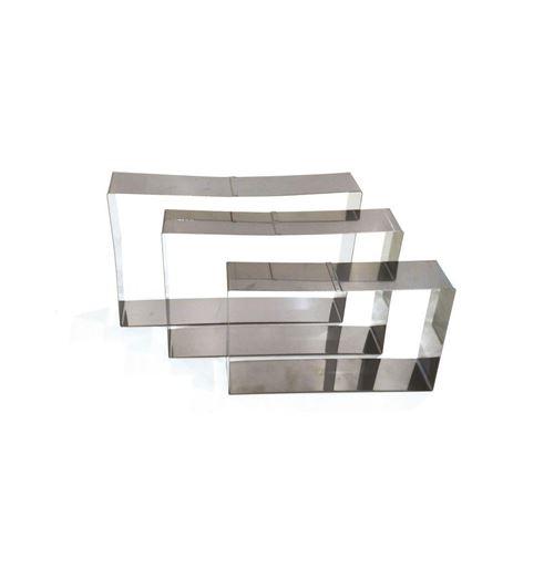 Cadre pâtissier rectangulaire - Lot de 3 - Inox