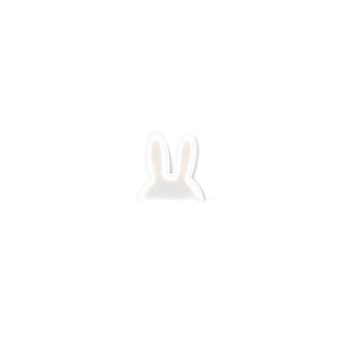 Lampe murale oreille de lapin - 25 x 25 cm - Blanc